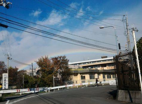 虹見つけた